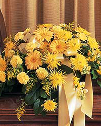 Casket Flowers Yellow Daisies