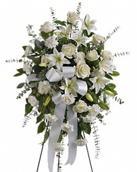 Funeral Spray White Roses