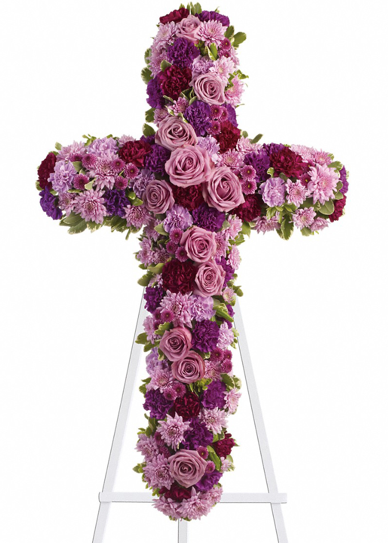 Sympathy floral cross sprays deepest faith columbus oh florist deepest faith same day delivery izmirmasajfo