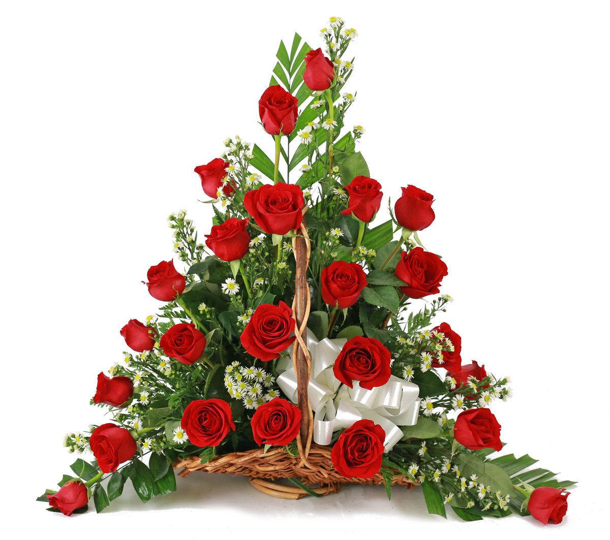 Sympathy Flowers For Service - 24 Rose Fireside Basket - Columbus OH ...